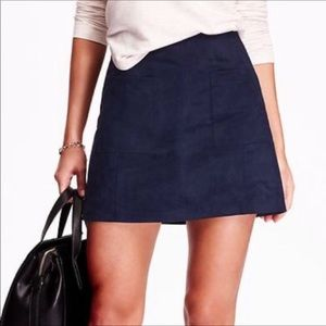 NWT old navy suede skirt in navy blue